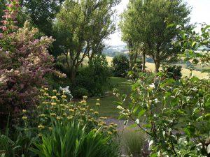 Une vue du jardin de Valérie Sarrazin